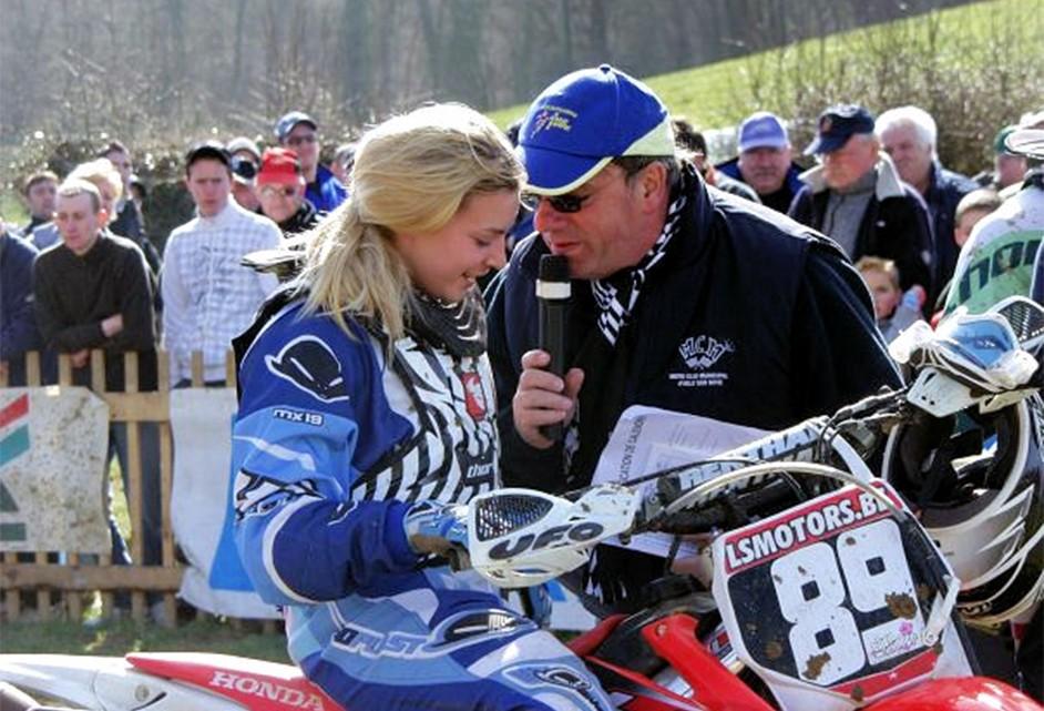 guy sellier avec La championne Belge Elien DE WINTER